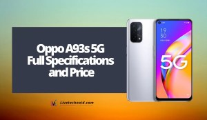 Oppo A93s 5G Full Specifications and Price