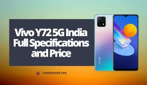 Vivo Y72 5G India Full Specifications and Price