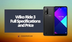 Wiko Ride 3 Full Specifications and Price