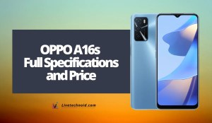 OPPO A16s Full Specifications and Price