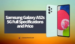Samsung Galaxy A52s 5G Full Specifications and Price