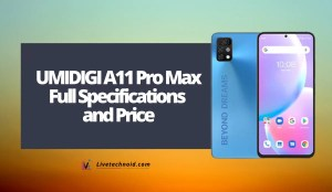 UMIDIGI A11 Pro Max Full Specifications and Price