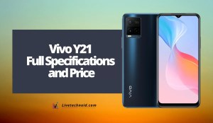 Vivo Y21 Full Specifications and Price