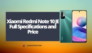 Xiaomi Redmi Note 10 JE Full Specifications and Price