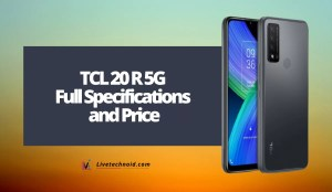 TCL 20 R 5G Full Specifications and Price