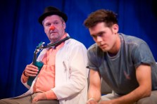 Phil Corbitt (and Dean Bone, foreground) in Rendezvous (Currently Under Construction by Laura Lindow) at Live Theatre