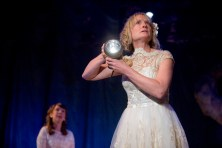 Zoe Lambert (and Karen Traynor, background) in Rendezvous (The Light by Deborah Bruce) at Live Theatre