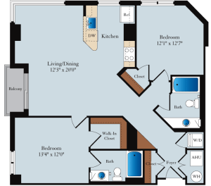 Phoenix Condo Unit 704 Floorplan