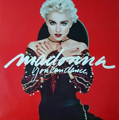 Skivomslag med Madonna.