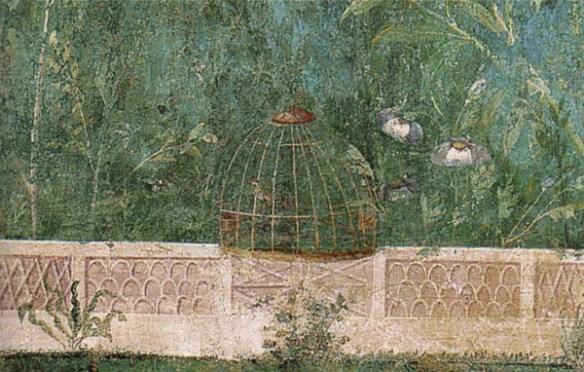 Detalj från en fresk i Villa Livia.