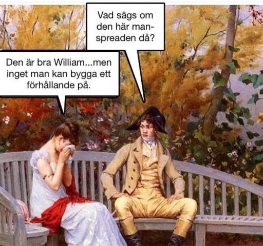 Exempel på inlägg av @kristerkvast. En 1800-talsmålning med två personer som sitter på en bänk och pratar.