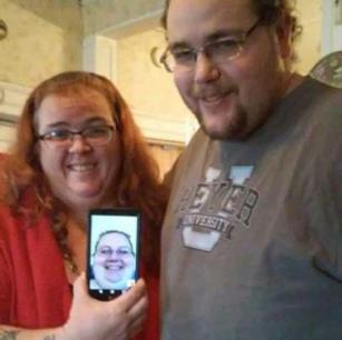 Mom's family photo. I attended via Skype