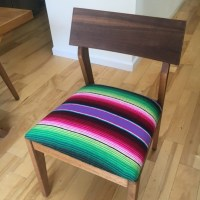 Thrift Store Chair Makeover - Part 2: Mexican Blanket Reupholstery
