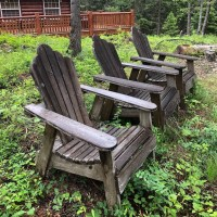 From Trash To Treasure - Refurbished Adirondack Chairs