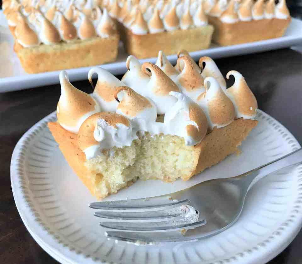 Mini Lemon Meringue Pound Cakes