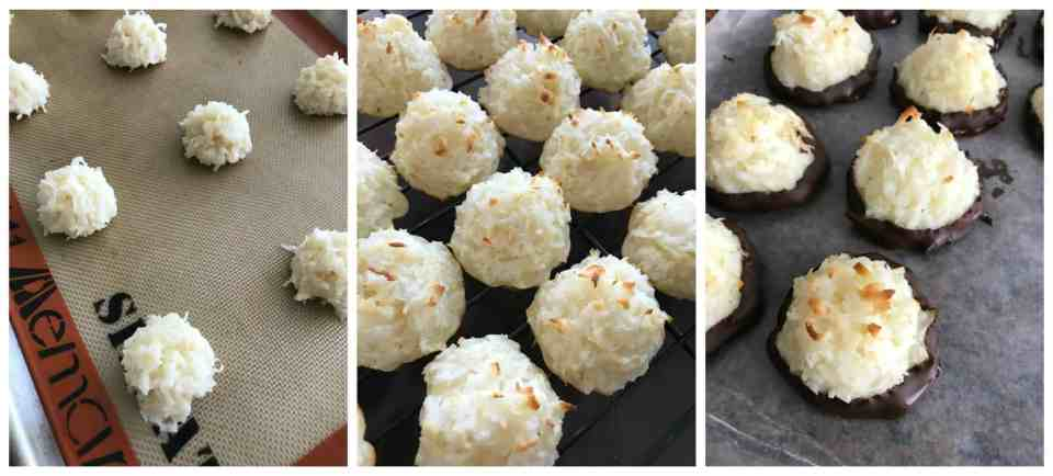 Black Bottom Coconut Macaroons