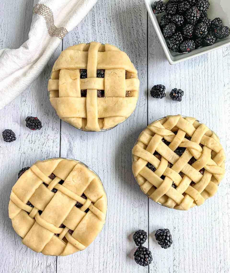 Blackberry Vanilla Pies
