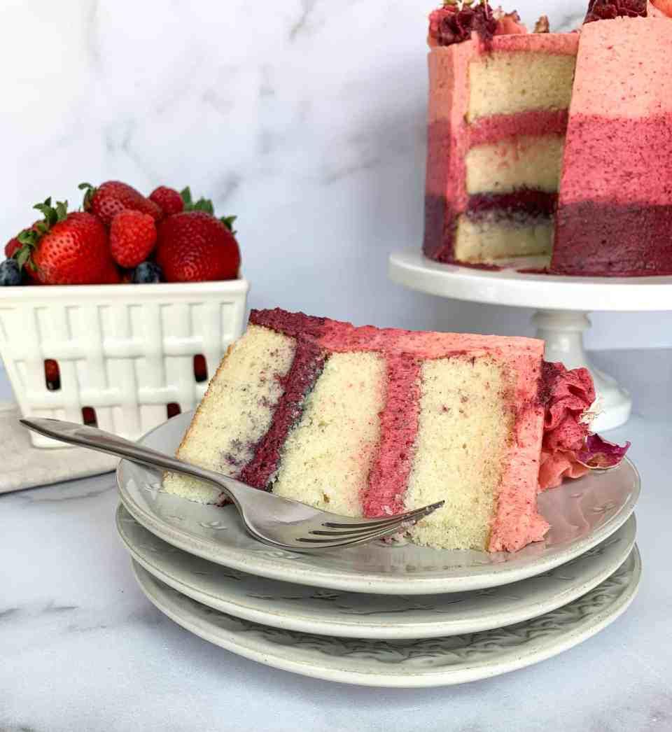 vanilla cake berry buttercream