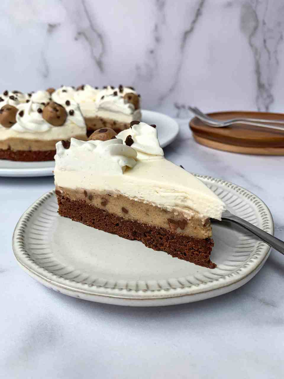 Cookie Dough Brownie Cheesecake