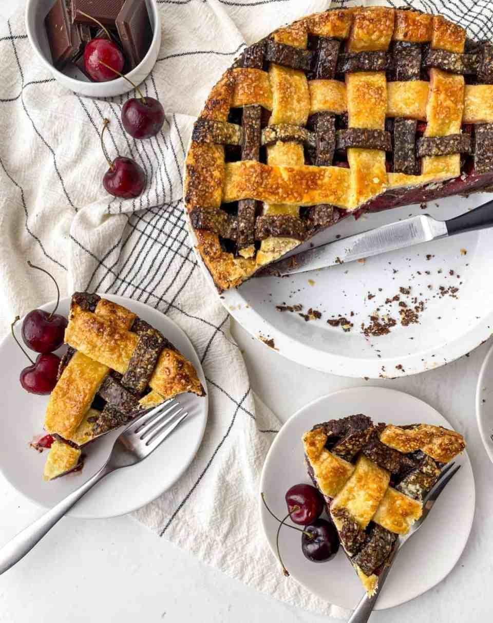 Chocolate Cherry Pie