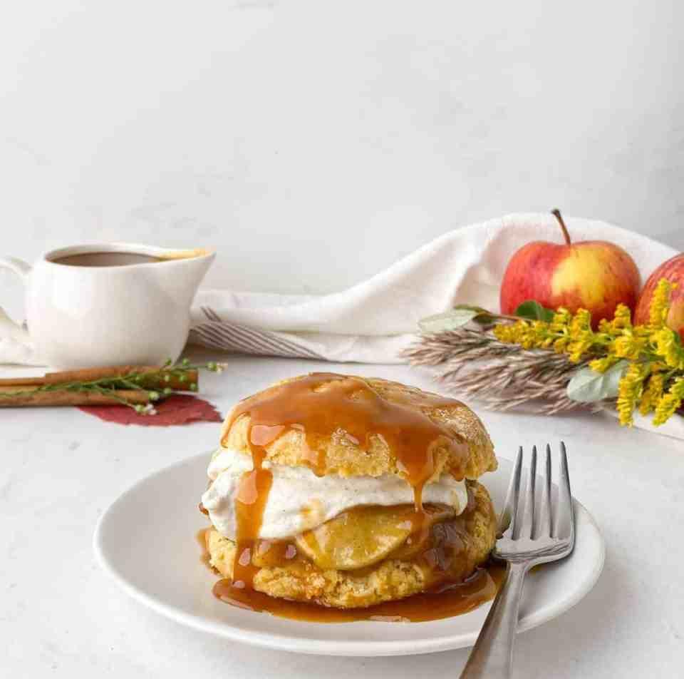 Caramel Apple Shortcake
