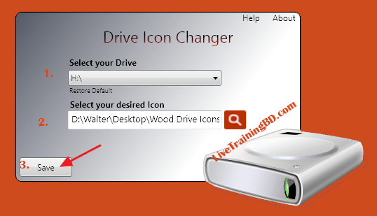 how to change hard drive icon