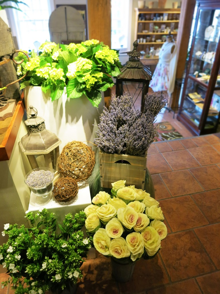 Lavender and other assorted flowers and decor in Studio 539 located on Wickenden Street in Providence, RI