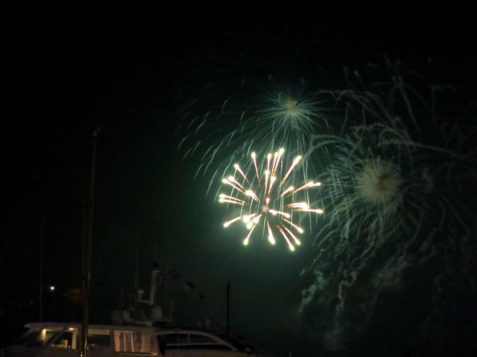 ROCKET'S RED GLARE OVER NEWPORT HARBOR - live. travel. adventure. bless. | Bright firework exploding over Newport Harbor during the 4th of July fireworks display in Newport, RI. Happy 4th of July!
