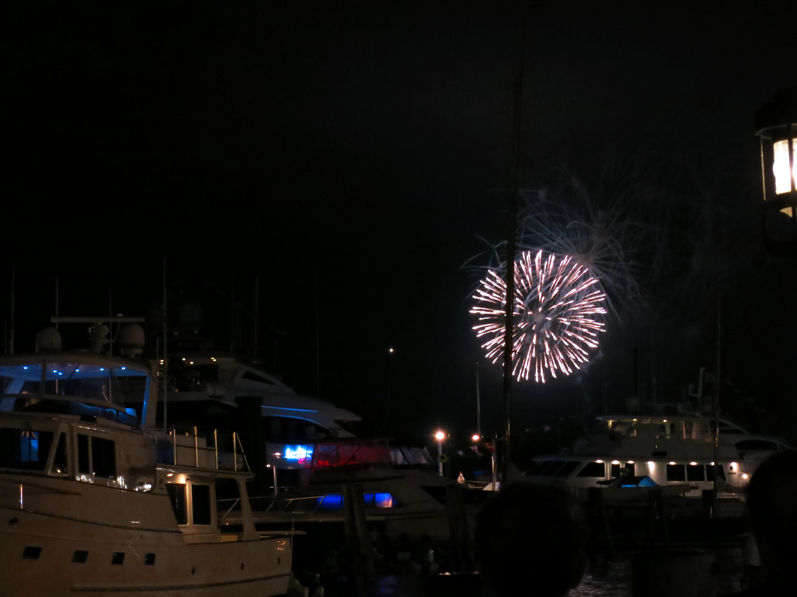ROCKET'S RED GLARE OVER NEWPORT HARBOR - live. travel. adventure. bless. | Firework exploding over Newport Harbor in Newport, RI. Happy 4th of July!