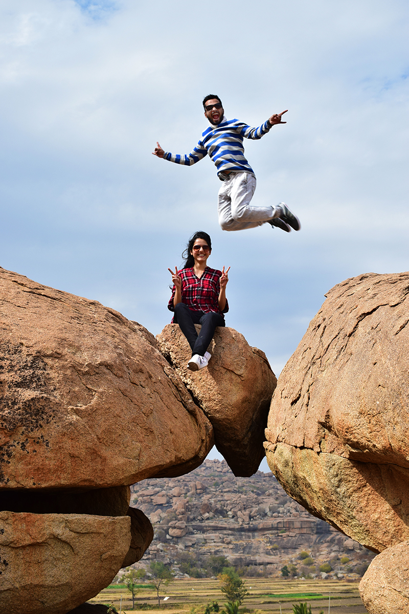 Jumping with joy - Krutika and Zaid