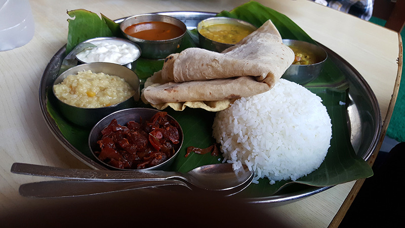 Veg Thali @ Mango tree restaurant - Hampi