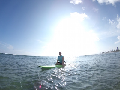 My First Surfing Lesson in Waikiki Hawaii