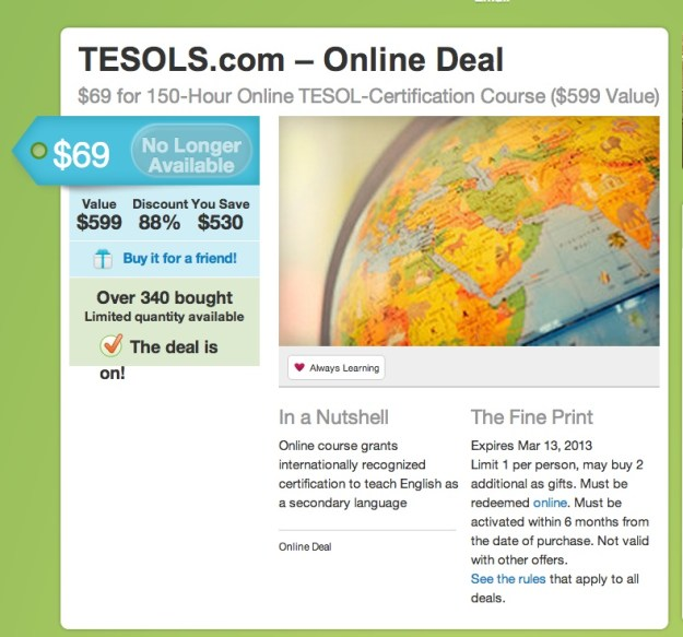 TESOL (TEFL) Certification with Global Leadership College – Live ...