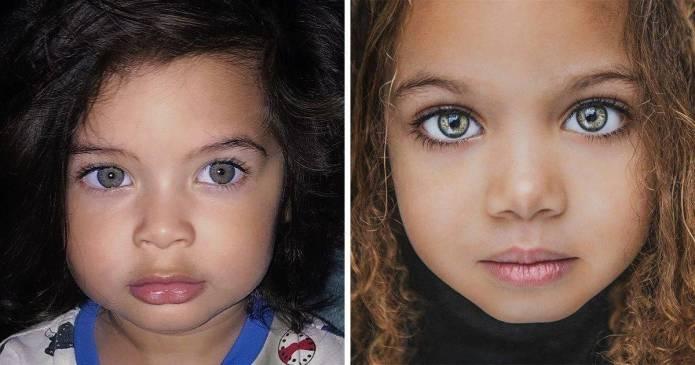 12 copii care și-au moștenit frumusețea din diferite părți ale lumii