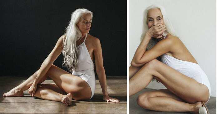 La 61 de ani a devenit model de costume de baie! Iată câteva din secretele sale