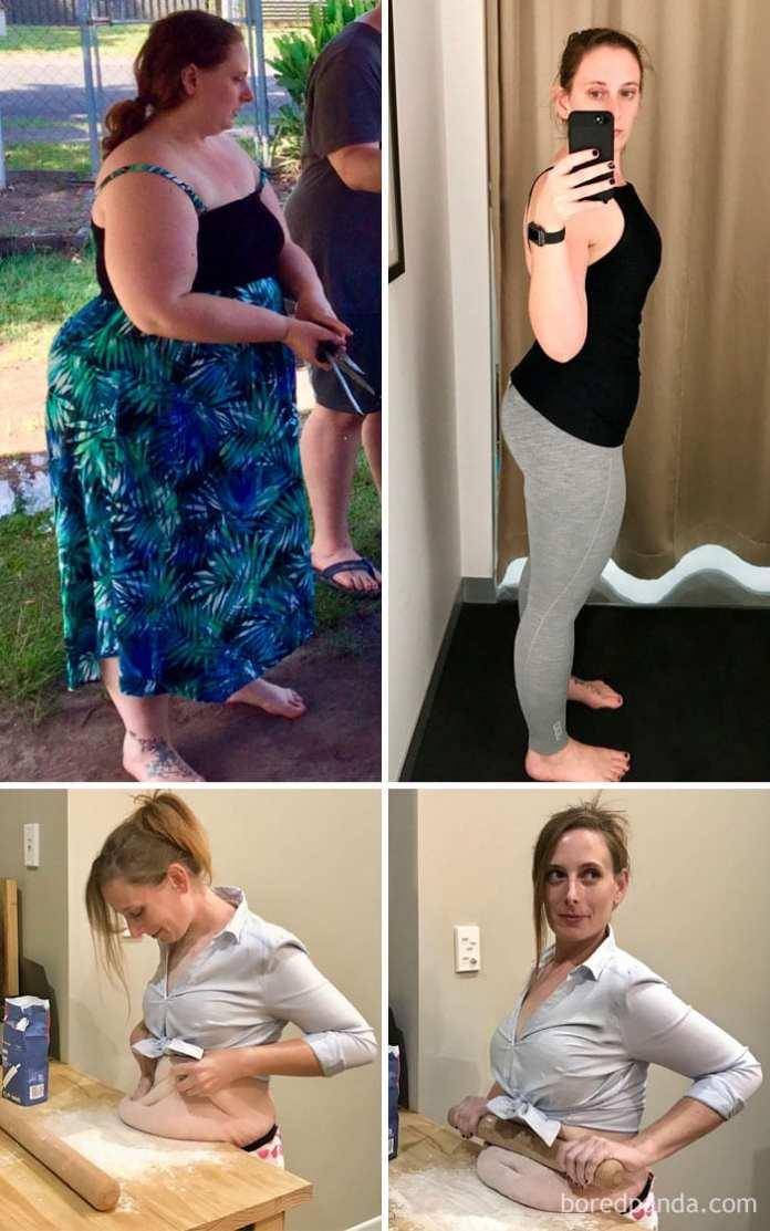 Pierdere în greutate de 40 kg înainte și după