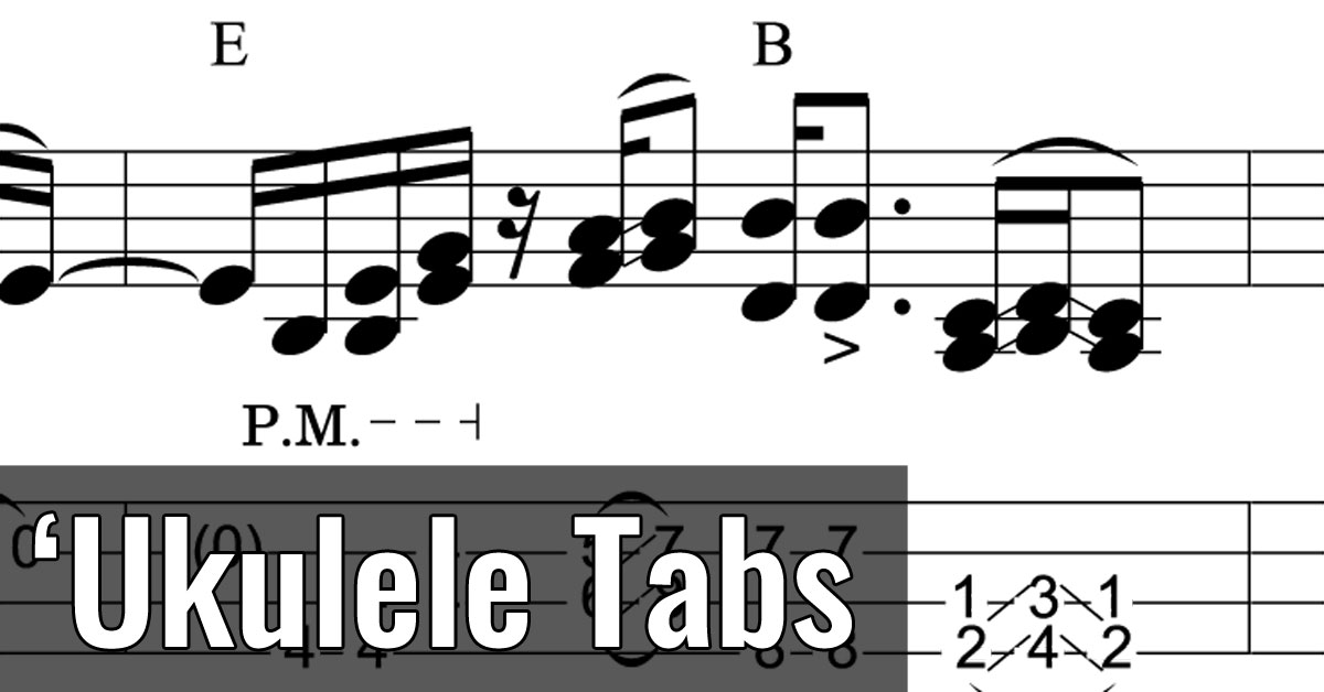 'Ukulele Tabs: Fingerpicking Tablature