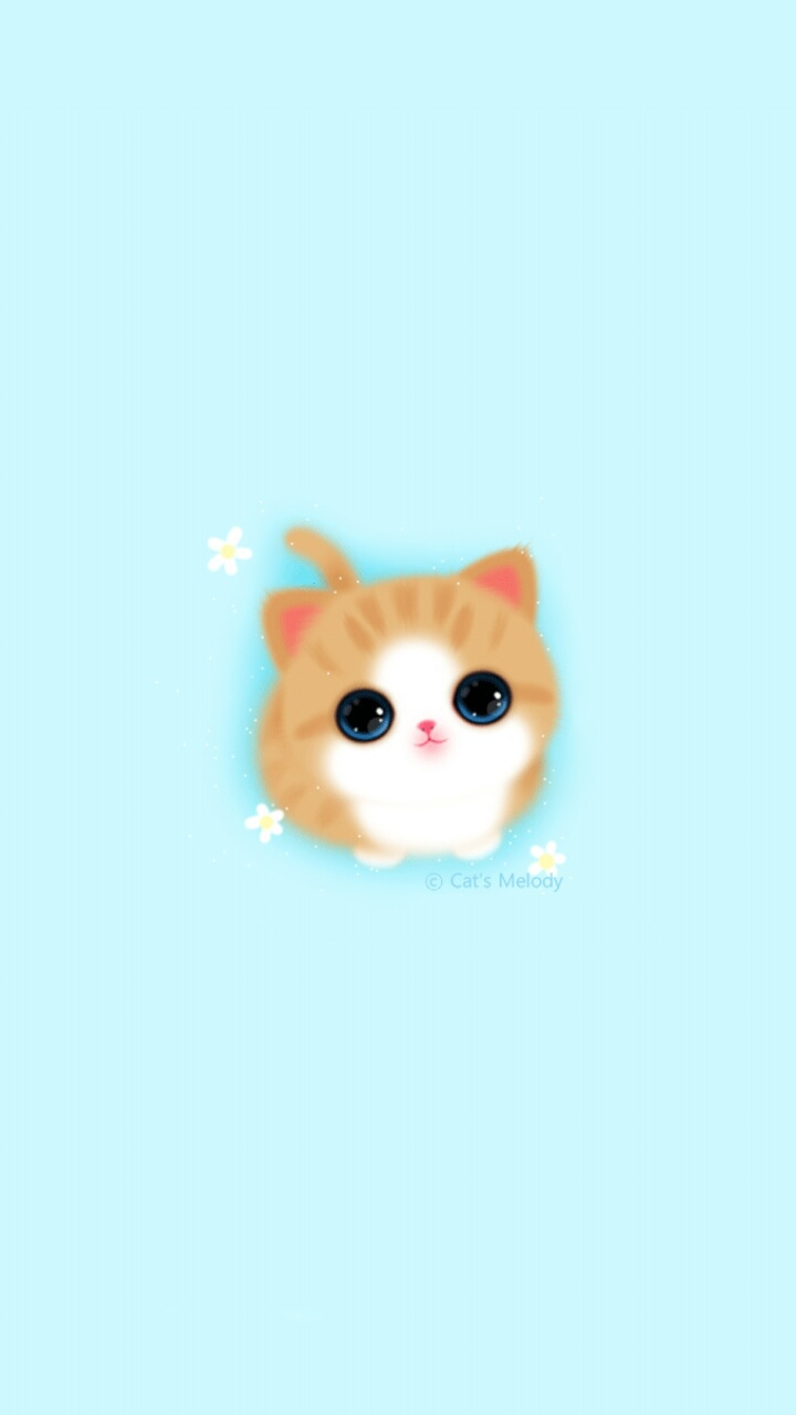Baby Cat Cute Live Wallpaper Full Size Cute Girly Iphone Wallpaper Melody Cat Baby Blue