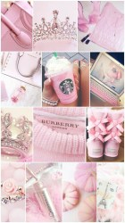 collage pink girly cute wallpapers aesthetic iphone lovely desktop backgrounds hd collages princess pastel pretty october livewallpaperhd please android resolution