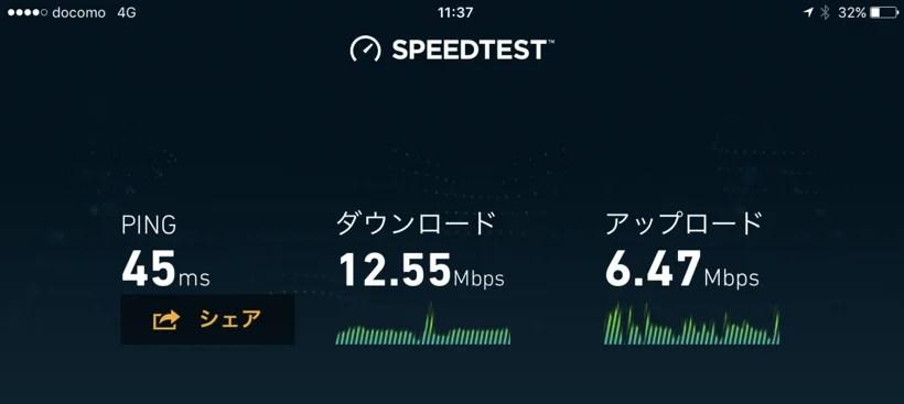 LINEモバイル 通信速度