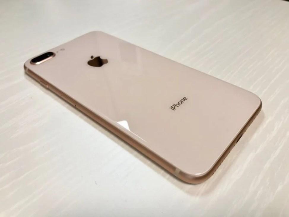 iPhone 8 Plus ローズゴールド 背面ガラス