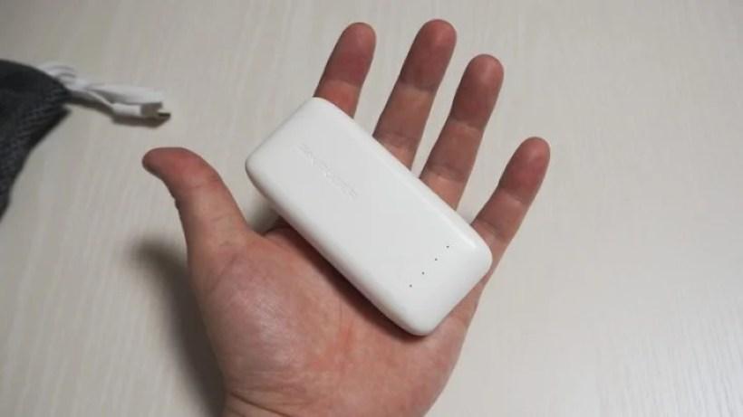 コンパクトな手のひらサイズ