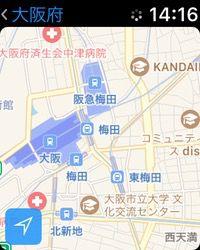 Apple Watchのマップアプリ2