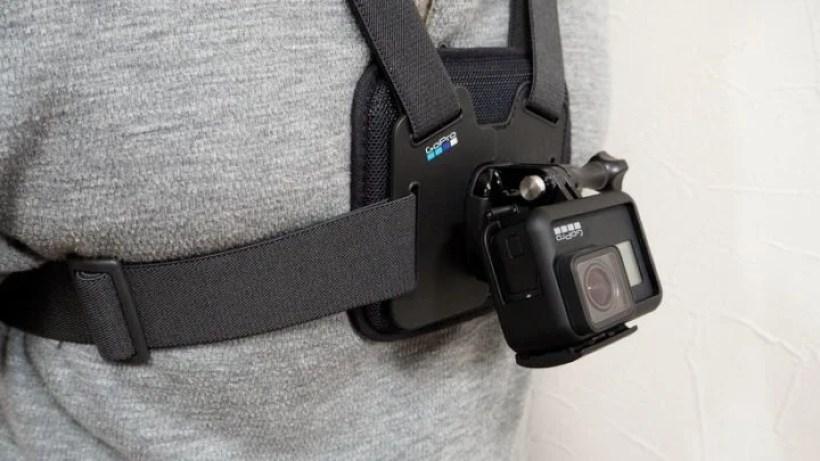 GoProを逆さにセットすれば上方向への画角調節が可能