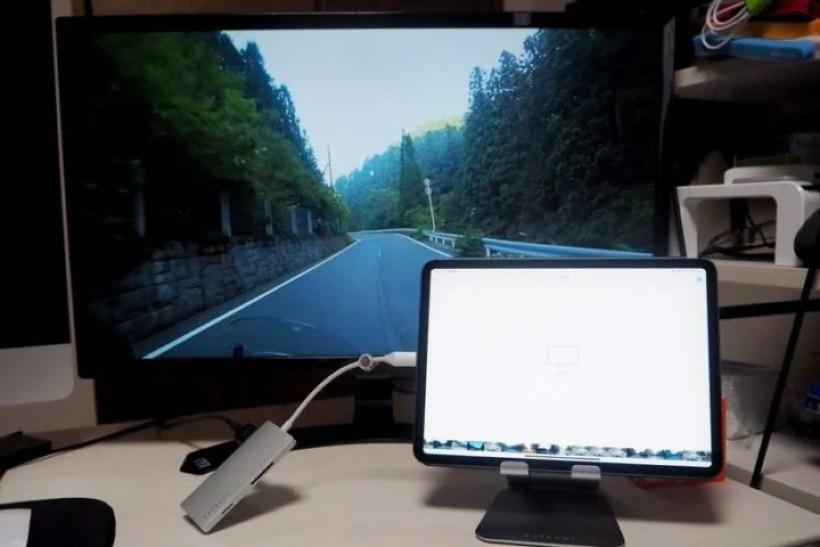 サードパーティ製USB-Cハブでも正常に動作した