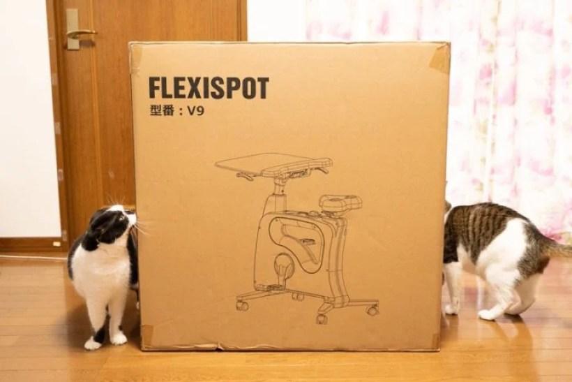 FlexiSpot V9の梱包サイズ・重量