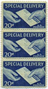Stamps contained delivery instructions
