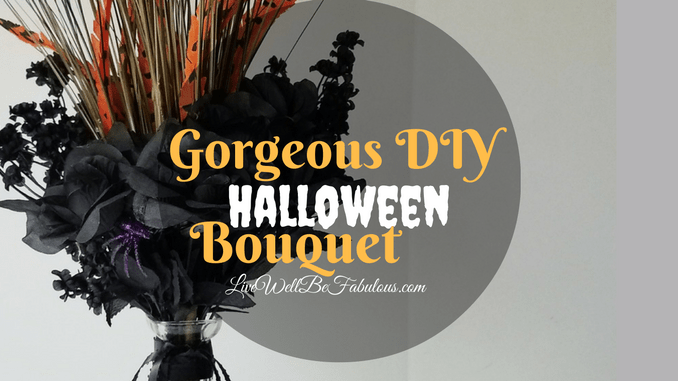 Super Easy Gorgeous DIY Halloween Bouquet