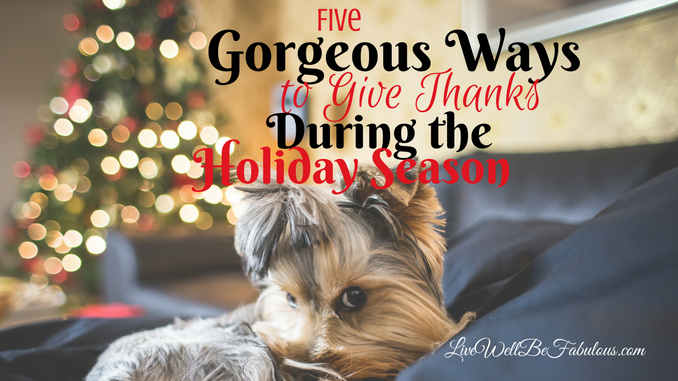 Five Gorgeous Ways to Give Thanks During The Holiday Season