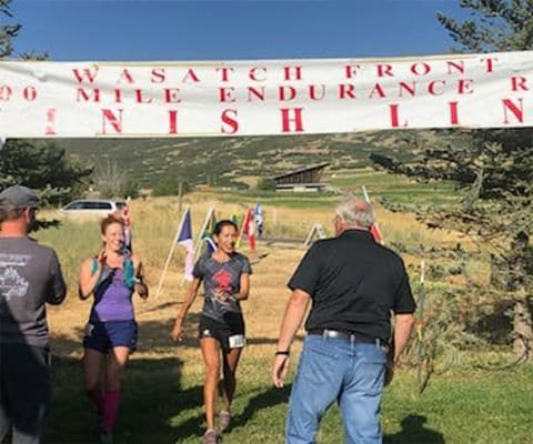 Wasatch 100-Bree Finish Line